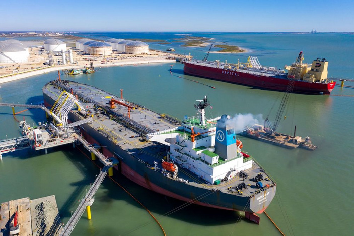 Deepwater dock at Corpus Christi Ship Channel in business