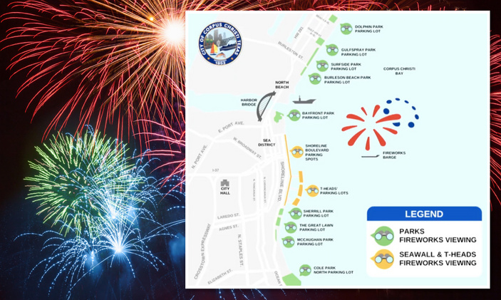 Corpus Christi sets rain date for fireworks display