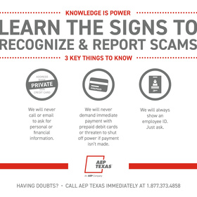 Corpus Christi AEP Customers Targeted by Scammers