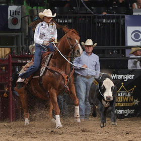 Madison Outhier of Utopia competes in Rodeo Corpus Christi